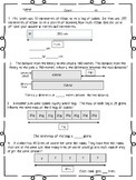Metric System Single Step Word Problems With Bar Models
