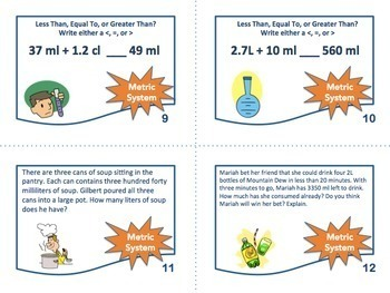 Metric System Task Cards