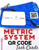 Metric System Task Cards with QR Codes
