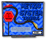 Metric System Travels SMART BOARD PROMETHEAN Game