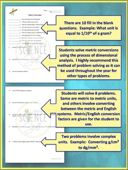 System and Dimensional Analysis Practice Problem Worksheet