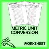 Metric Unit Conversion Worksheet