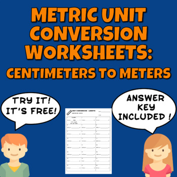 Metric Unit Conversion Worksheet