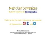 Metric Unit Conversions