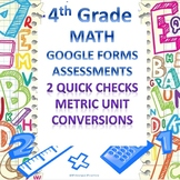 Metric Unit Conversions Google Forms Assessment 2 Quick Checks