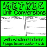 Converting Whole Number Units of Metric Measurement, 5th Grade Lesson & Quiz