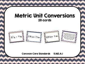 Metric Unit Conversions Task Cards