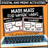 Metric Unit Math Mats Printable and Digital for Google Sli