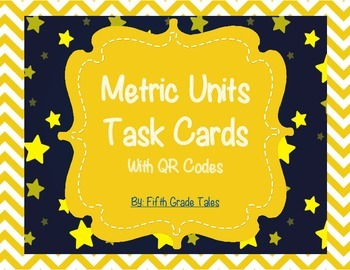 Metric Units Conversion Task Cards with QR Codes and Glog Presentation