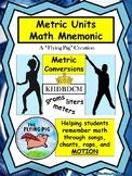 Metric Units Math Mnemonic