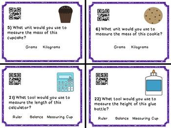 Metric Units Task Cards - Choose the Unit