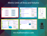 Metric Units of Area and Volume