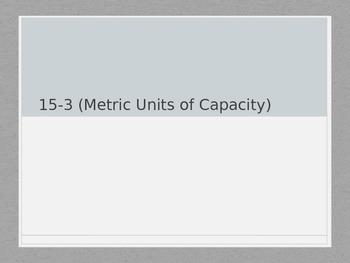 Metric Units of Capacity (Milliliters, Liters)