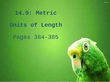 Metric Units of Length