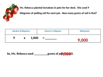 Metric Units of Mass and Liquid Volume with Student Worksheet