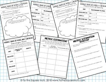 Metric Units of Measure Journal