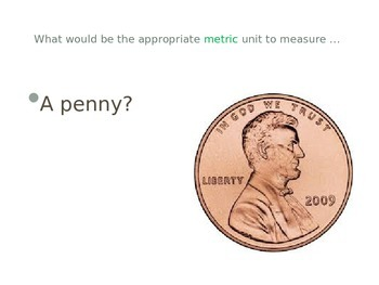 Metric Units of Measurement and Conversions