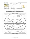 Metric Volume Color Wheel Classification Activity Common Core