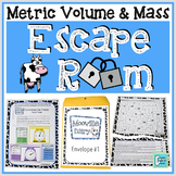 Grams Kilograms Liters Milliliters Escape Room Activity - Metric Volume & Mass