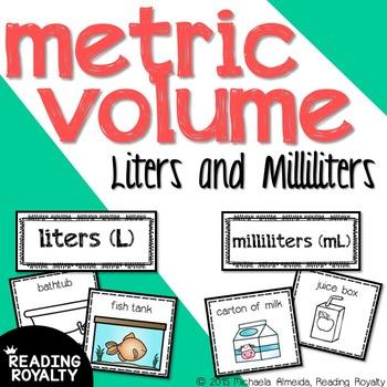Metric Volume - Milliliter and Liter Sort