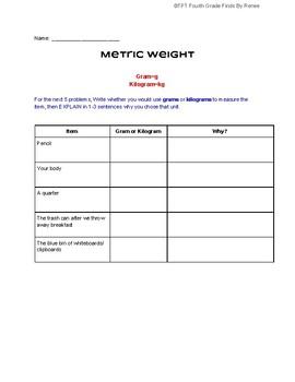 Metric Weight