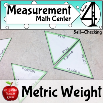 Metric Mass Conversion Math Center