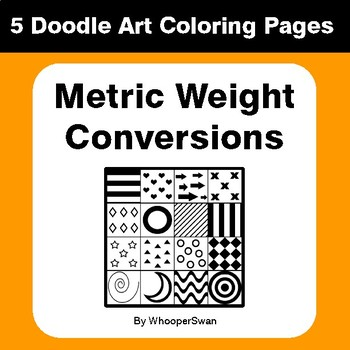 Metric Weight Conversions - Coloring Pages | Doodle Art Math