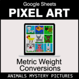 Metric Weight Conversions - Google Sheets Pixel Art - Animals