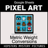 Metric Weight Conversions - Google Sheets Pixel Art - Hipsters