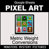 Metric Weight Conversions - Google Sheets Pixel Art - Monsters
