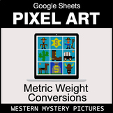 Metric Weight Conversions - Google Sheets Pixel Art - Western