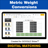 Metric Weight Conversions - Google Slides - Distance Learn