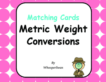 Metric Weight Conversions - Matching Cards