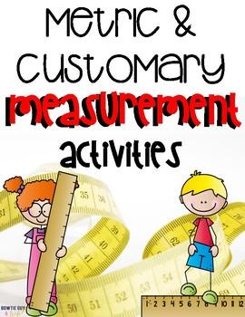 Metric and Customary Measurement Vocabulary Activities