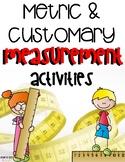 Metric and Customary Measurement Vocabulary Activities