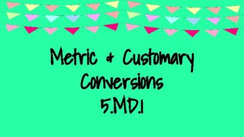 Metric and Customary Conversions Task Cards
