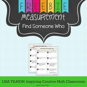 Metric and Customary Measurement Find Someone Who Activity