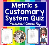 Metric and Customary System Converting Measurement Conversion QUIZ