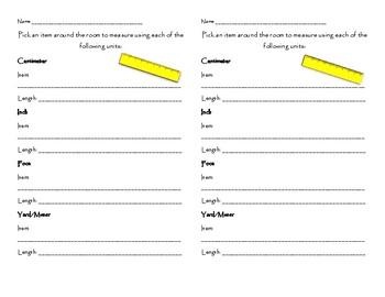 Metric and Customary Measurements