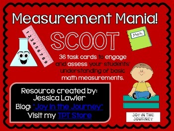 Metric and English Measurement Mania SCOOT Task Cards