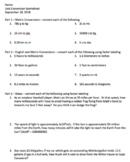 Metric and English Unit Conversion worksheet