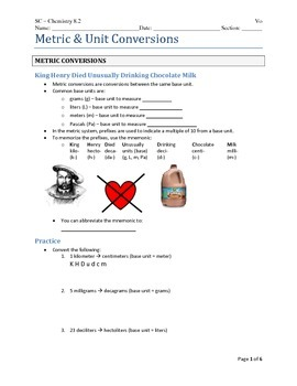 Metric and Unit Conversions Lesson for Science Teachers