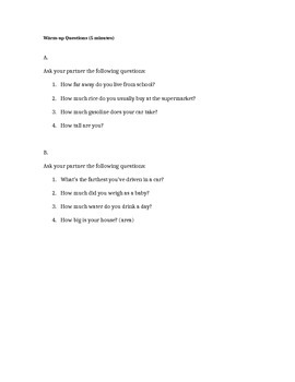 Metric to Imperial Lesson Plan