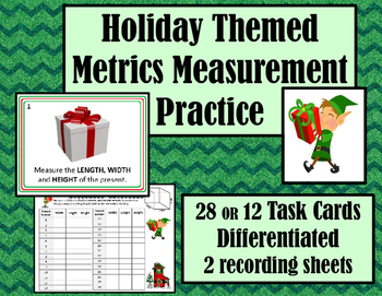 Metrics Length Measurement Practice  Review- Holiday Chris