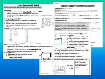 Metrics Measuring HUGE Bundle: Introduce, practice length, volume, mass, density