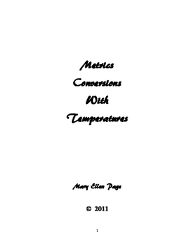 Metrics: Temperature Conversions (revised)