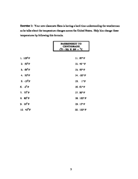 Metrics: Temperature Conversions (revised)