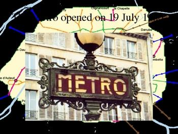 Métro de Paris (Paris subway in French) power point