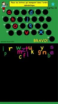 Alphabet sonore interactif minuscule et majuscule