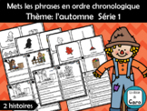 Mets les phrases en ordre chronologique Thème: l'automne Série 1